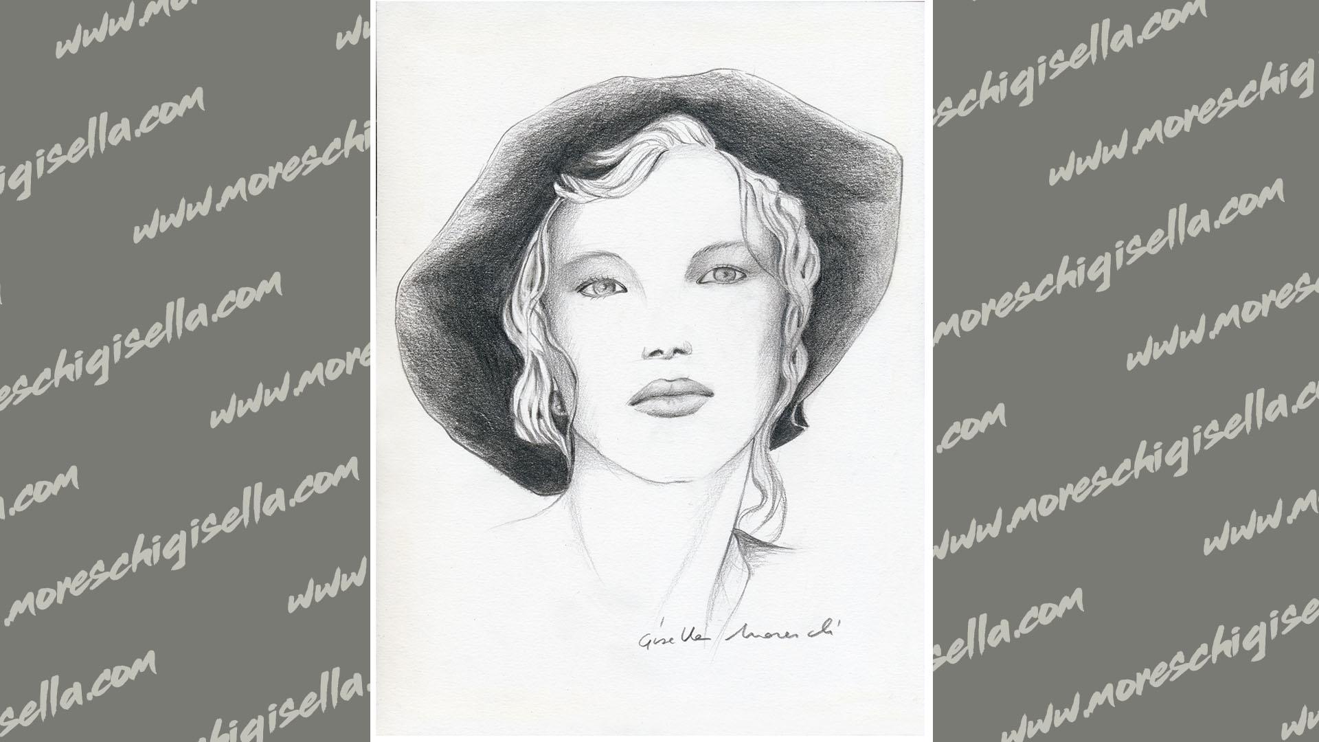 viso di donna con cappello n1