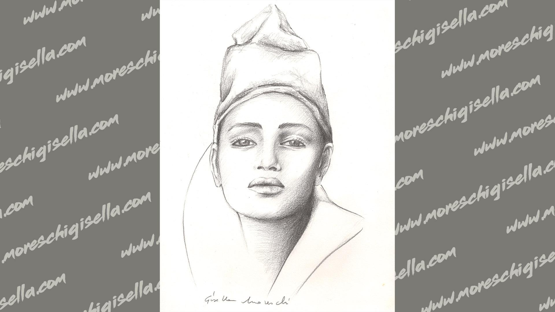 ritratto di donna con berretto